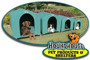 Houndhouse Dog Kennel Group with Logo