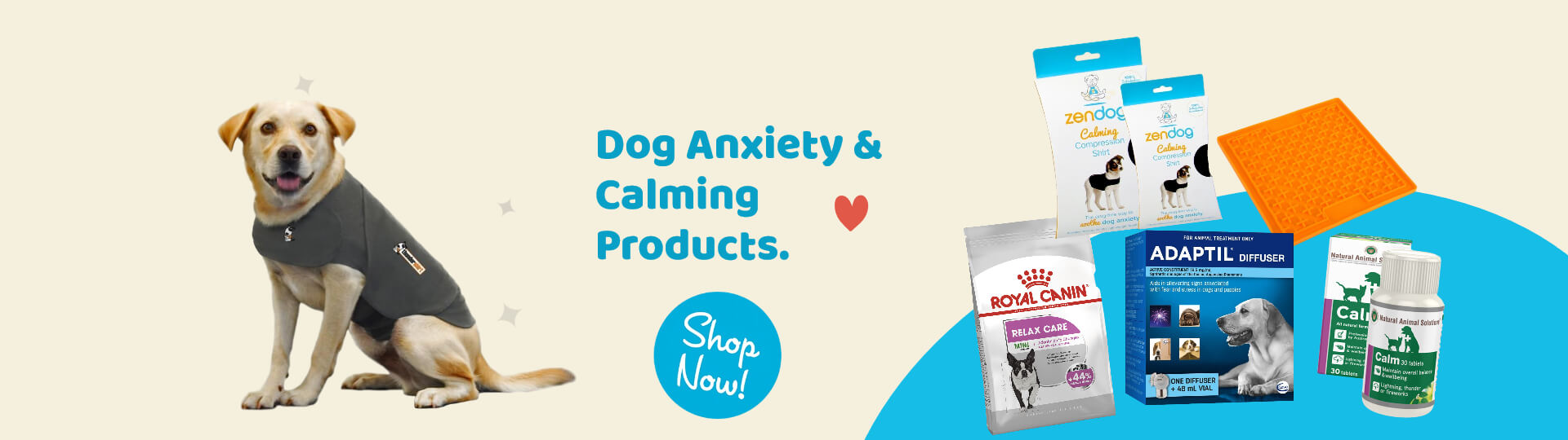 Dog Anxiety & Calming Banner