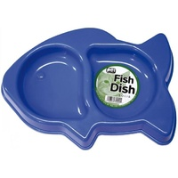 Plastic Dish Cat Bowl - Fish