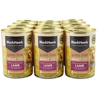 Black Hawk Grain Free Adult Dog Can - Lamb - 12 x 400g (Tray)