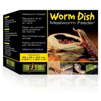 Exo Terra Worm Dish Mealworm Feeder for Reptiles - Medium