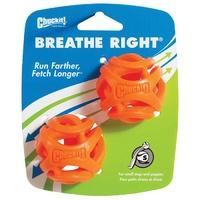 ChuckIt Breathe Right Fetch Dog Ball - Small - 2 Pack