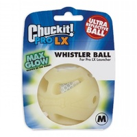 ChuckIt Pro LX Whistle Glow Dog Ball - 1 Pack