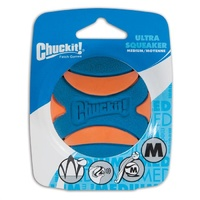 Chuckit Ultra Squeaker Dog Ball - Medium (6cm) - 1 Pack