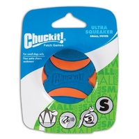 ChuckIt Ultra Squeaker Dog Ball - Small (5cm) - 1 Pack