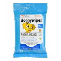 Petkin Doggy Wipes - 15 Pack