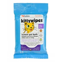 Petkin Kitty Wipes - 15 Pack