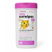 Petkin Kitty Earwipes - 40 Pack
