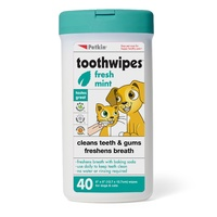 Petkin Pet Toothwipes for Dogs & Cats - 40 Pack