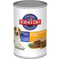 Hill's Science Diet Canine Mature Adult Active Longevity Can Savoury Chicken - 370g