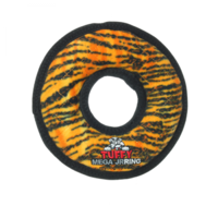 Tuffy Mega Junior Ring Tiger Soft Tough Dog Toy