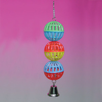 Three Latice Balls with Bell Bird Toy