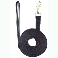 7 Metre Long Nylon Dog Lead - Black