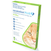 Revolution PLUS for Large Cats 5-10kg - 3 Pack - Green