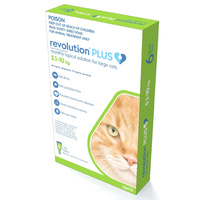 Revolution PLUS for Large Cats 5-10kg - 6 Pack - Green