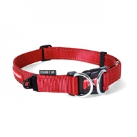 Ezydog Double Up Dog Collar - Small (22-29cm) - Red