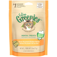 Greenies Feline Oven Roasted Chicken Flavour Cat Treats - 71g