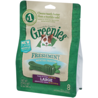 Greenies Freshmint Dog Treats - Large - 340g (8 Pack)