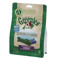 Greenies Blueberry Dog Treats - Large - 340g (8 Pack)
