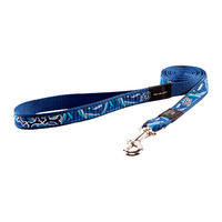 Rogz Fancy Dress Dog Lead - Navy Zen - Small Jelly Bean (11mm x 1.8m)