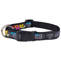 Rogz Beltz Fancy Dress Dog Collar - Multi Bone - X-Large Armed Forces (25mm x 43-70cm)