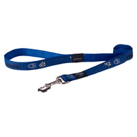 Rogz Fancy Dress Dog Lead - Navy Paws - Small Jelly Bean (11mm x 1.8m)