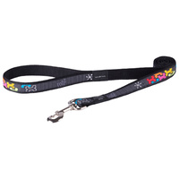 Rogz Fancy Dress Dog Lead - Multi Bone - Small Jelly Bean (11mm x 1.8m)