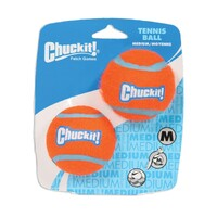 Chuckit Fantastic Tennis Ball - Red & Blue - Medium (6cm) - 2 Pack