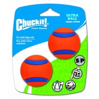 ChuckIt Ultra Dog Ball - Small (5cm) - 2 Pack