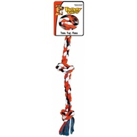 Mammoth Flossy Chews Dog Rope Toy - Three Knot Tug - Medium (51cm)