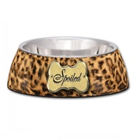 Milano Spoiled Leopard Print Dog Bowl - Large (946ml)