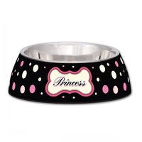 Milano Princess Polkadot Dog Bowl - Large (946ml)