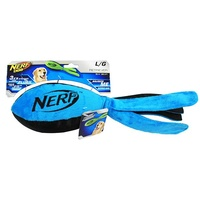 NERF Dog Retriever Football with Tail - Large (38cm) - Blue