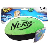 NERF Dog Retriever Plush Football - Large (17.8cm) - Green