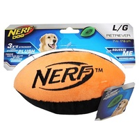 NERF Dog Retriever Plush Football - Large (17.8cm) - Orange