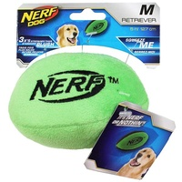 NERF Dog Plush Retriever Football - Medium (12.7cm) - Green