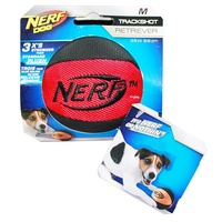 NERF Dog Trackshot Retriever Ball - Medium (8.9cm) - Pink