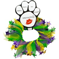 Party Collar Mardi Gras Purple & Green with Stars - X-Small (20cm)