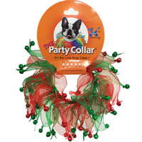 Christmas Party Dog Collar Jingle Bells - Large (35cm)