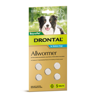 Drontal All Wormer Medium Dog Tablets - 10 kgs - 5 pack