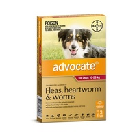 Advocate for Dogs 10-25 kgs - 3 Pack - Red