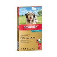 Advantix for Dogs 4-10 kgs - 6 Pack - Teal