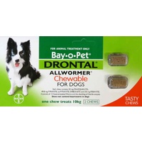 Drontal AllWormer for Dogs Chews - 10 kg - 2 pack