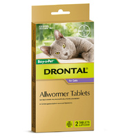 Drontal AllWormer for Cats - 4 kgs - 2 Pack