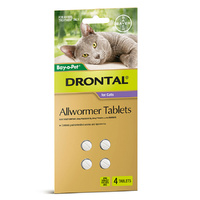 Drontal All Wormer for Cats up to 4 kgs - 4 pack