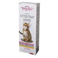 Trouble & Trix Cat Litter Tray Liners - 15 Large