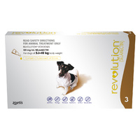 Revolution for Dogs 5.1-10 kgs - 3 Pack - Brown