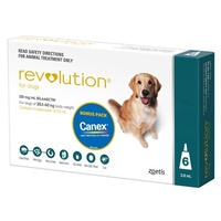 Revolution for Dogs 20.1-40 kgs - 6 Pack - Teal - 1 Extra Vial Free