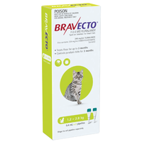Bravecto Spot-On for Small Cats 1.2-2.8kg - Green (6 Months)