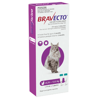 Bravecto Spot-On for Large Cats 6.25-12.5kg - Purple (6 Months)